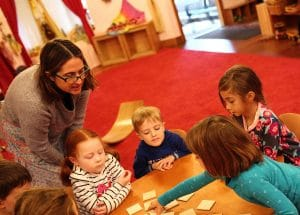 White Rose Kindergarteners in cooperative play